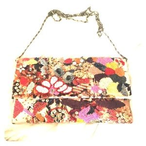 Anthro clutch bag- worn twice!